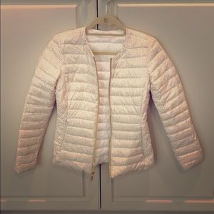 Lilly Pulitzer reversible puffer coat.